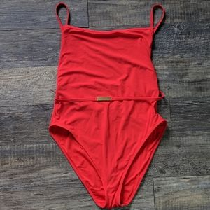 NWOT DVF belted cheeky one piece